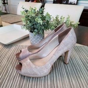Faux snake leather heels
